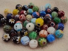 100 Millefiori Glass Round Beads Assortment Colours 8mm.  Size (mm) 8