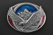 Eagle Azul Y Rojo Hebilla de Cinturón Metal AMERICAN