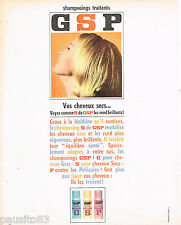 PUBLICITE ADVERTISING 075  1966  GSP  shampoing cheveux secs