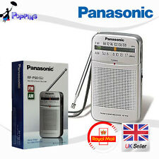 Panasonic RF-P50 AM/FM Portable Pocket Radio 2-Band Receiver RFP50 (Silver)