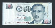 Banknote - Singapore $50 Portrait Series Money Repeater Number 5AV773773  #103