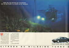 Publicité Advertising 1991 ( Double page )  CITROEN BX TURBO D ...