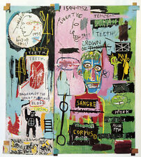 Jean-michel Basquiat - in italian - street art canvas print wall picture 28x24""