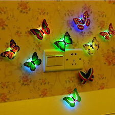 Magic  Romantic LED Butterfly Night LED Light Home Room Decor Lamp  Colorful