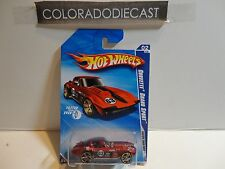 2010 Hot Wheels #130 Red Corvette Grand Sport w/FTE Wheels