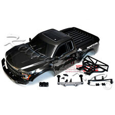 NEW Traxxas 2017 Ford Raptor Slash Body Gray Black w/Body Mounts Bumpers SCT 2WD