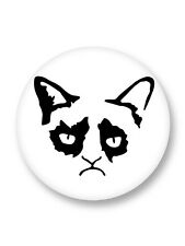 "Pin Button Badge Ø25mm 1"" Grumpy Cat Tardar Sauce Chat Grincheux"