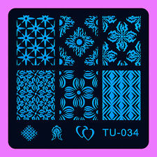 NEW Stamping Manicure Image Nail Art Image Stamp Template Tool Plate Polish T-34