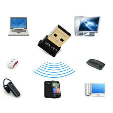 Mini Wireless Bluetooth Computer Adapter V 4.0 Dual Mode USB For Win7/8/10 Black