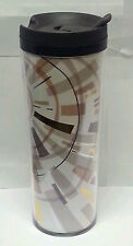 Starbucks Modern Art Star Pattern Tumbler/ Brown & Gold/16oz