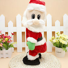 Christmas Electric Santa Claus Animated Figure Twisted Hip Dance Sound Funny Toy