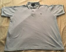 Fred Perry Vintage Twin Tip Polo XL light Blue