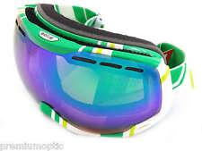 BOLLE premium KAISER Ski Schnee Schutzbrille weiß LIMONE/Grün Smaragd SPIEGEL