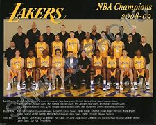 2008-2009 LOS ANGELES LAKERS NBA WORLD CHAMPIONS 8x10 TEAM PHOTO