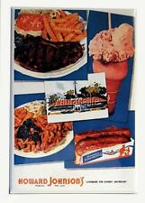 "Vintage HOWARD JOHNSON'S  RESTAURANT MENU COVER 2"" x 3"" Fridge MAGNET Art FOOD"
