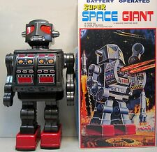 "SUPER SPACE GIANT ROBOT 16"" tall battery operated JAPAN Metaru Hause MINT in box"