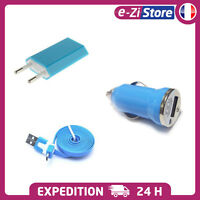 MICRO USB CABLE LOADER SECT FOR SAMSUNG GALAXY S4 S3 S2 NOTE BLUE