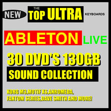 30 DVD'S 130 GB ABLETON LIVE SAMPLER 7 8 TOP SAMPLES SOUND COLLECTION