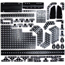 Lego Technic - Black Studless Beams Liftarms Panels Bricks Racks 128 Parts - NEW