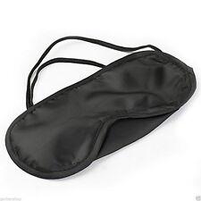 Eye Sleeping Mask Travel Blindfold Shade Blinder Soft Elasticated Rest Aid Uk