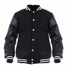Varsity Genuine Leather Sleeve Letterman College  Men Wool Jacket