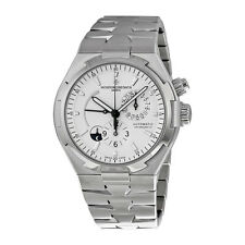 Vacheron Constantin Mens Overseas Silver Automatic Swiss Watch 47450/B01A-9226