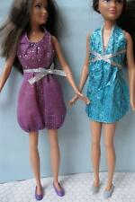 Barbie Sisters SKIPPER DOLL Fashion Outfit Clothes/Shoes~Lot of 2 Dresses-Prom!