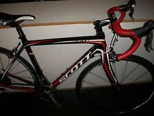 SCOTT CR1 TEAM FULL CARBON FRAME FULCRUM RACING S-19 LIGHT WHEELS, FIZIK