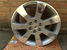 "CADILLAC SRX 18"" 7 SPOKE ALLOY WHEEL MACHINE SILVER (1) 06-09 GM#9595748"