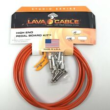 Lava LCPBKTR High End Pedal Board Right-Angle DIY Guitar Cable Kit 10' Orange