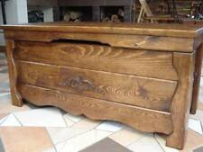 Wooden Blanket Box Coffee Table Trunk Vintage Chest Wooden Ottoman Toy Box (BA1)