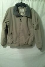 LL BEAN BEIGE WINTER JACKET COAT MENS SIZE L