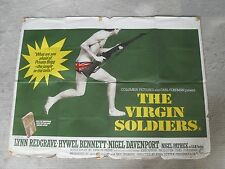 THE VIRGIN SOLDIERS ORIGINAL 1969 CINEMA QUAD POSTER HYWEL BENNETT LYNN REDGRAVE