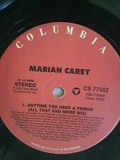 "Mariah Carey-Anytime You Need a Friend 12"" X 2 Vinly Pop Hit"