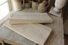 2 Sheets vintage French linen  2 MATCHING upholstery pillow fabric etc canvas