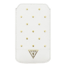 Housse Etui GUESS Studded Collection Blanc compatible SAMSUNG Galaxy S6 Edge+