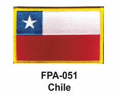 "2-1/2'' X 3-1/2"" CHILE Flag Embroidered Patch"