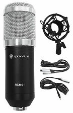 Rockville RCM01 Pro Studio Recording Condenser Microphone Mic+Metal Shock Mount