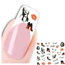 3D Nagel Sticker Nail Art Marilyn Monroe Lippen Aufkleber