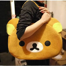 Rilakkuma Cute Big Bag Handbag shoulder Bag plush relax brown bear Freeshipping