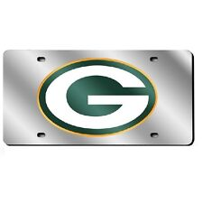 Green Bay Packers Mirror License Plate - Silver