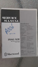 sherwood pd913 r service manual repair book schematic turntable record player