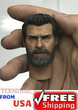 1/6 Wolverine Head With Neck Hugh Jackman For Logan X-Men Hot Toys Phicen ❶USA❶