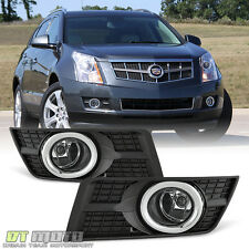 2010-2016 Cadillac SRX Clear Complete Fog Lights Bumper Lamps w/ Switch+Harness