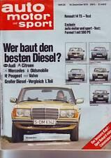 ams 26/79 Mercedes 300 D W123/Audi 100 5 D/CX 2500 D/Oldsmobile 98 Diesel/604 D