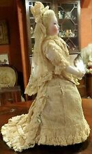 """15"""" Antique French Mechanical Walking Waltzing Jules Steiner C1860 Doll"""