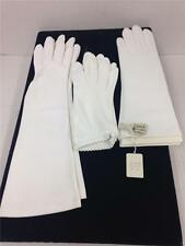 VTG Lot of 3 White Ladies Womens Gloves Short Medium Long Size 6-7 1/2 Harms CA