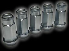 20PC 12X1.25MM 50MM EXTENDED ALUMINUM RACING CAPPED LUG NUTS GUNMETAL