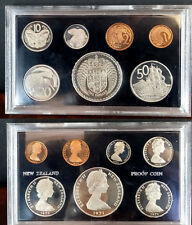 1971 New Zealand 7 coin Proof  set-Animals,Ship Nice,mintage 5000