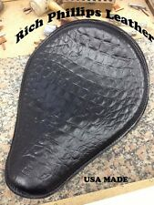 Harley Davidson Chopper Motorcycle Seat Alligator Bobber Chopper Black Nightster